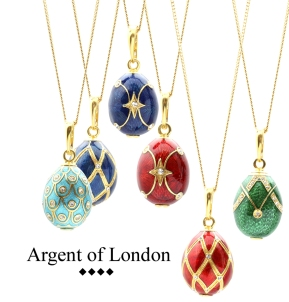 Argent of London Faberge Egg Pendants