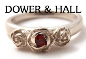 Garnet Three Rose Ring by Dower & Hall, £90