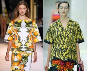 Fruity prints from Prada and Stella McCartney