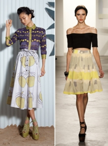 Fuller skirts from Suno and Vena Cava