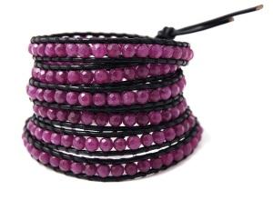 Chan Luu Purple Jade Wrap Bracelet, £116