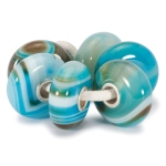 Trollbeads Turqouise Striped Agate Kit, £130