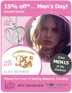 Valentine's Men's Day - 15% off until Sunday 13th February!