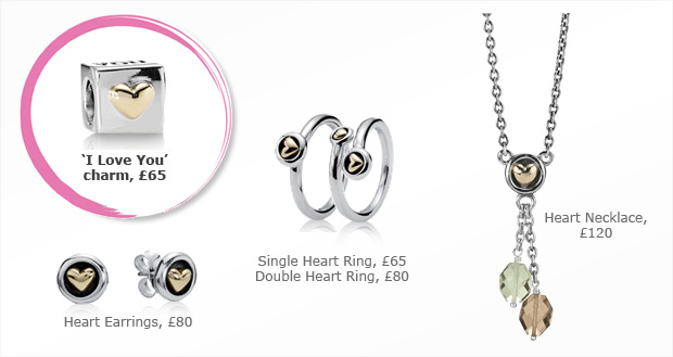 Pandora 'I Love You' charm and matching jewellery