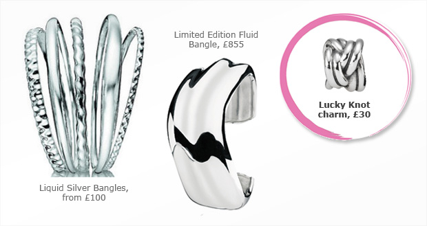 Pandora Lucky Knot charm - a perfect match for the Liquid Silver collection
