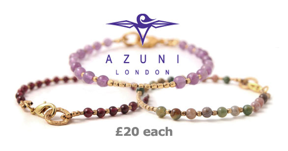 Adorn your wrist with an Azuni Beaded Nugget bracelet, at just £20!