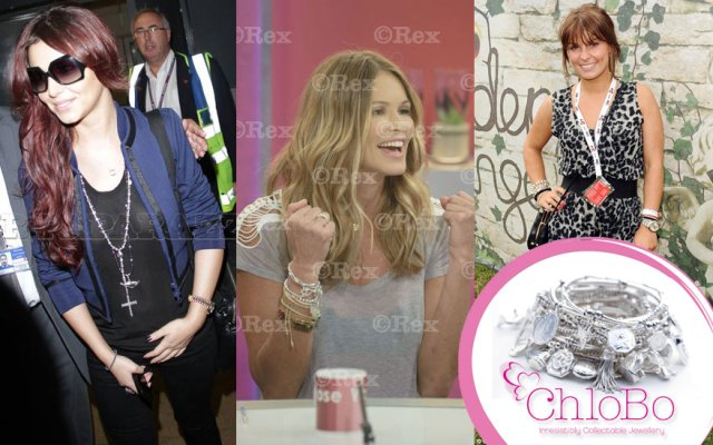 Cheryl Cole, Elle Macpherson and Colleen Rooney showing off their ChloBo!