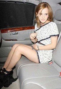 Emma Watson wearing Tresor Paris