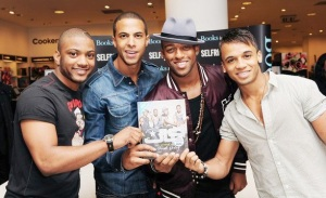 JLS wearing Tresor Paris