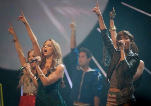 The Saturdays wearing Tresor Paris