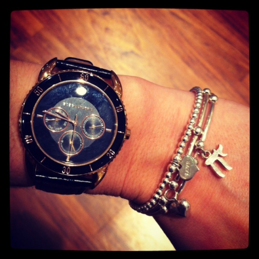 ChloBo stack and BCBG watch