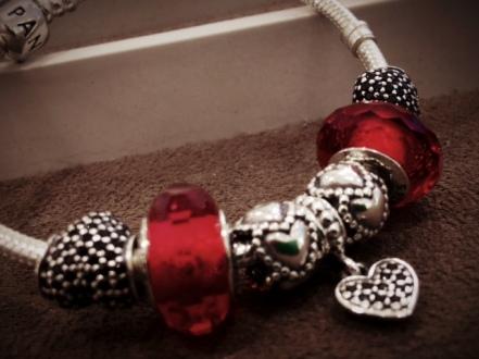 Valentine's bracelet from Pandora