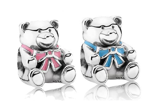 Sterling Silver and Enamel Son and Daughter PANDORA charm