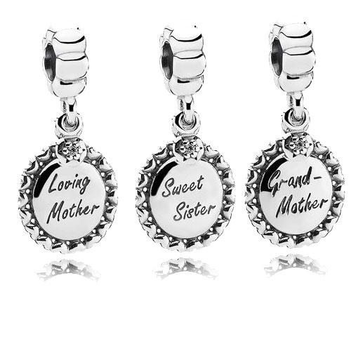 Sterling Silver Mother, Sister, Grandmother PANDORA charms