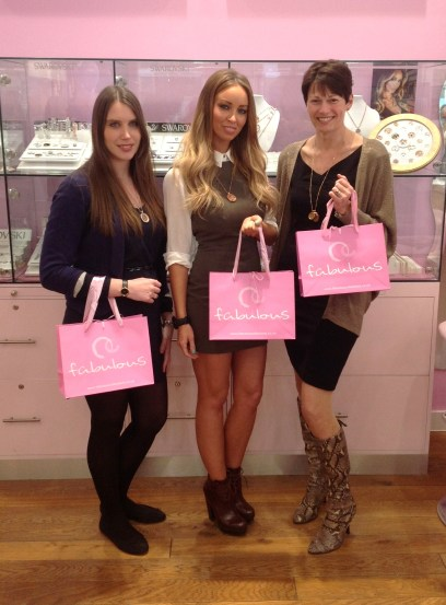 Lauren Pope with Jo Stroud and Becky Johnson