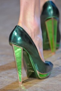 YSL emerald shoes