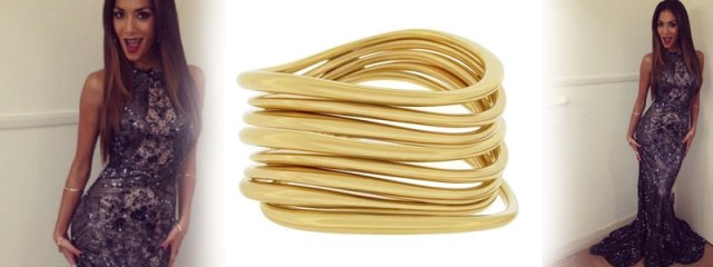 Dinny Hall Wave Bangle, Gold £280 and SIlver £220