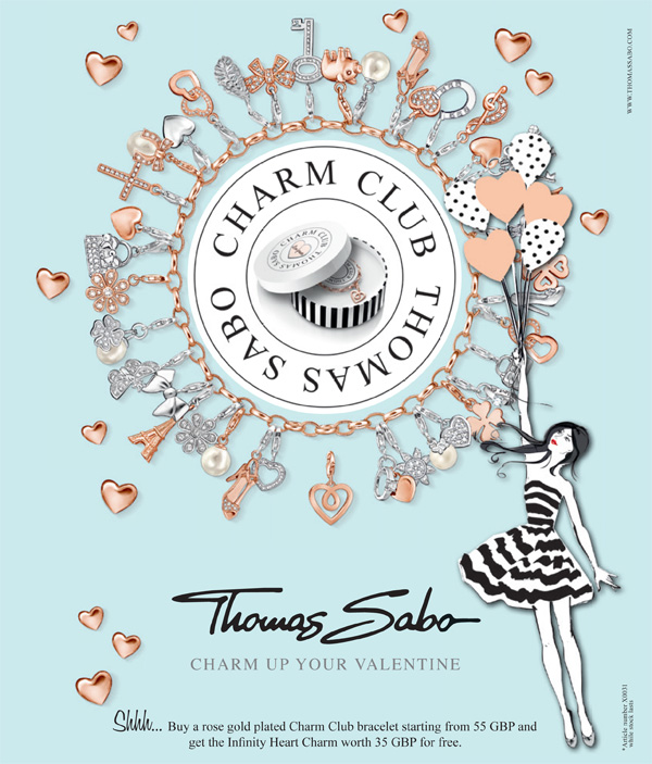 FREE charm with a Rose Gold charm bracelet from Thomas Sabo