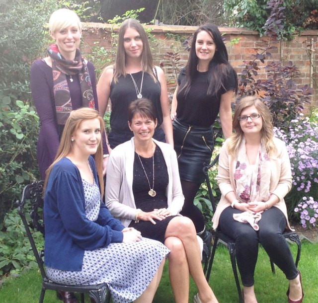 The fabulous Senior Management Team. From Top Left Laura, Becky, Rhian. Bottom Left, Anna, Jo and Sinade