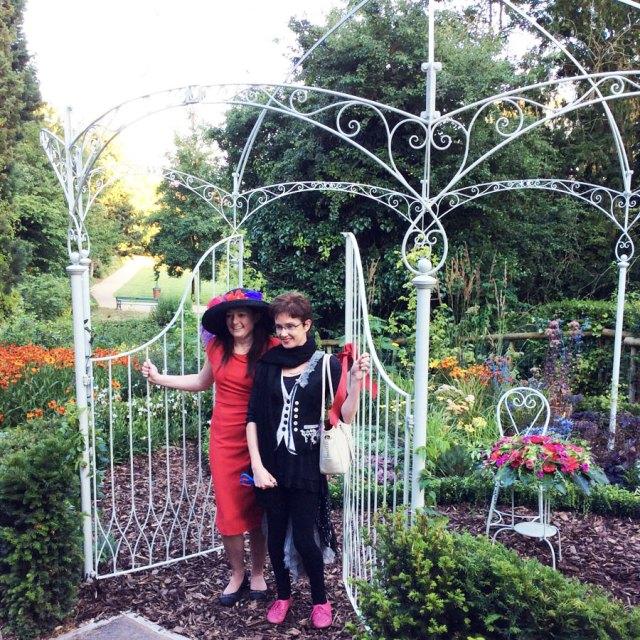 Sarah Horne and Stephanie Kerr from BID open the garden