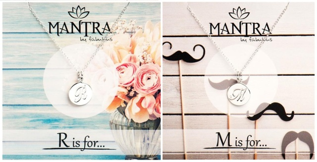 Mantra Initial Necklace
