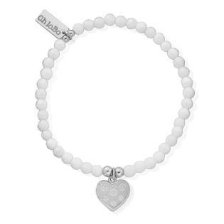 chlobo white agate heart