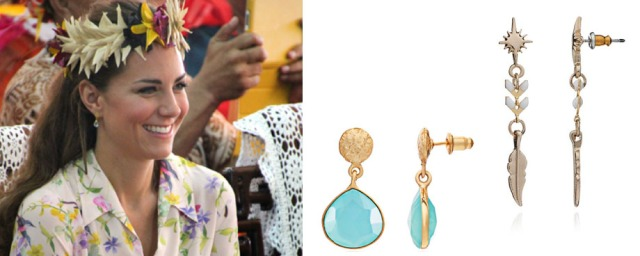 Kate Middleton Azuni Earrings Athena Jewellery Designer Santa Fe Aqua Chalcedony