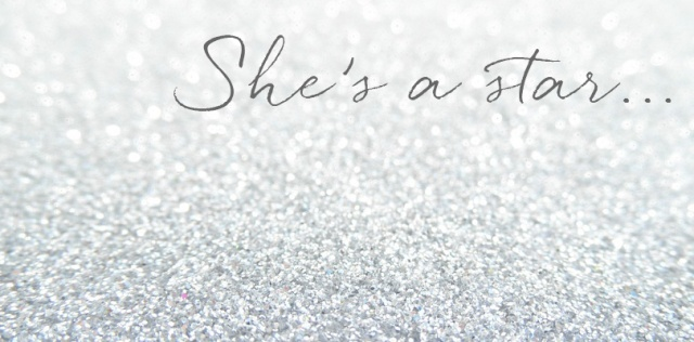 glitter she's a star header