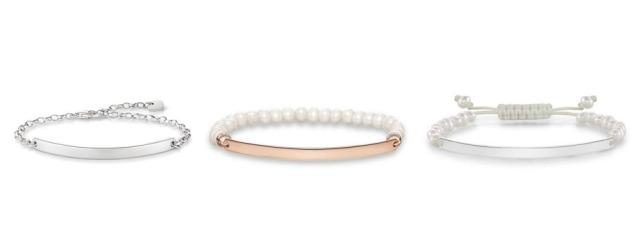Thomas Sabo Bridesmaid Gifts Love Bridge Engravable Personalised Sterling Silver Freshwater Pearl Bracelet