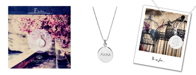 Designer Jewellery Bridesmaid Gifts Sterling Silver Initial Necklaces Personalised